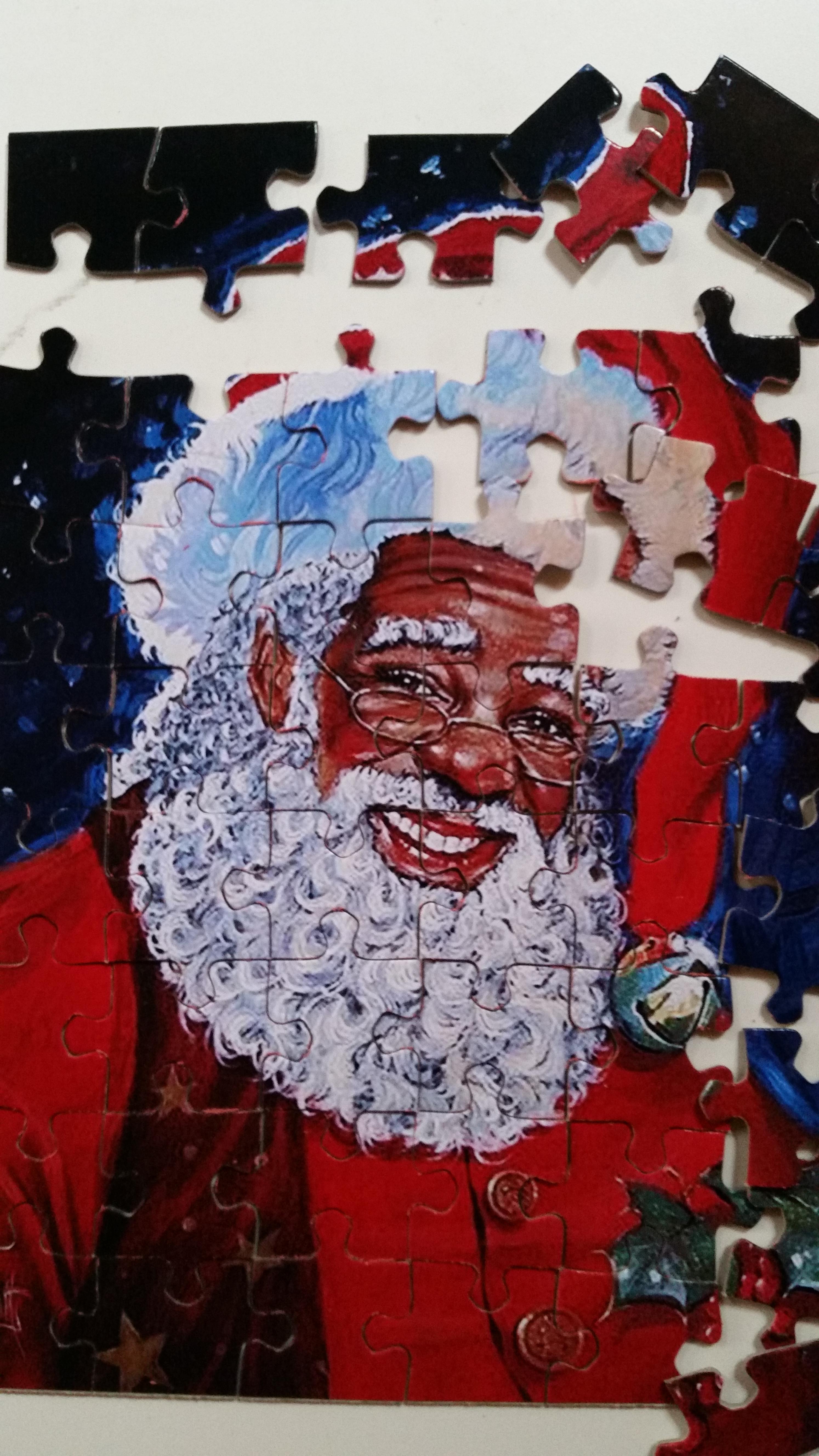 cut black santa