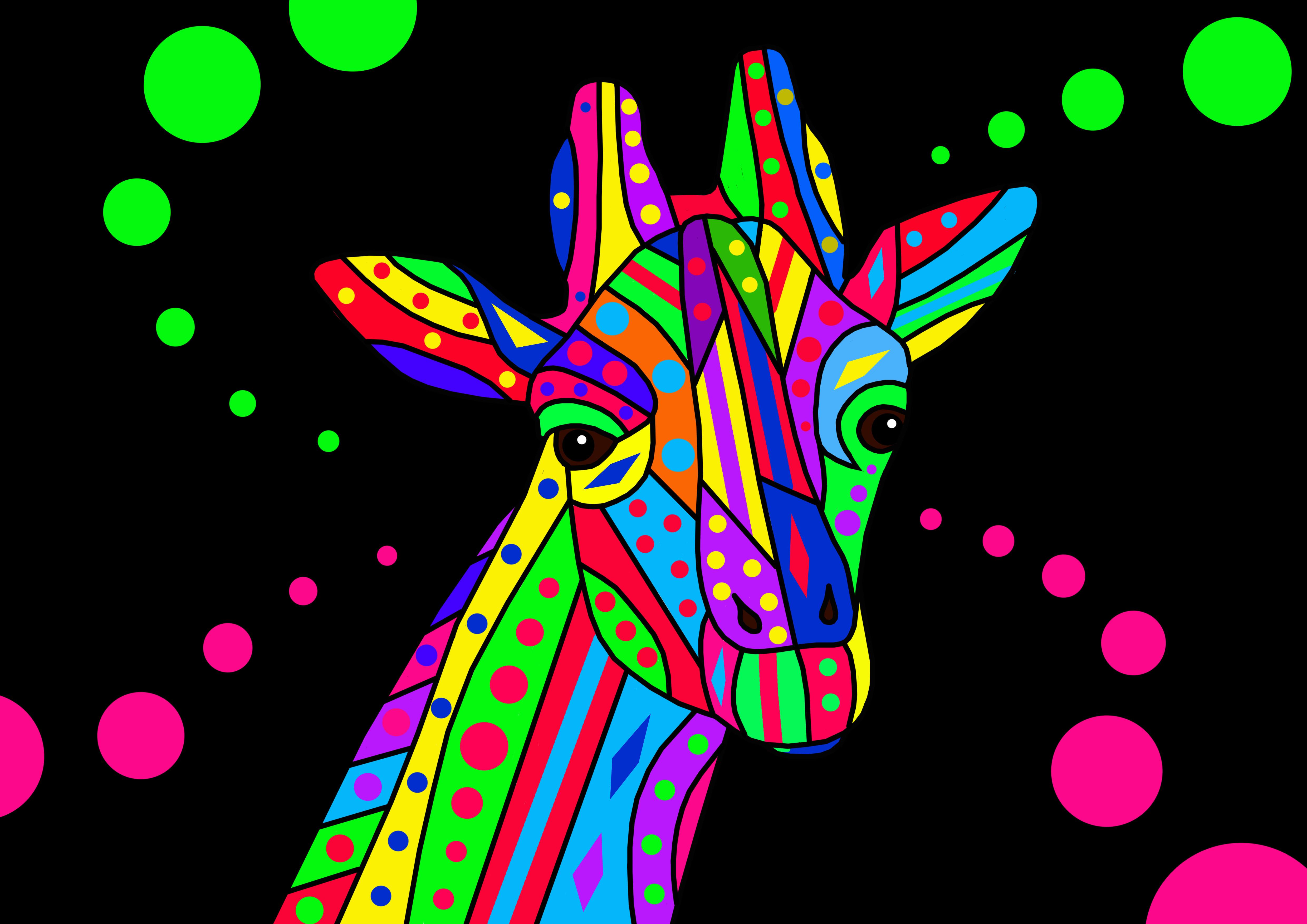giraffe with background